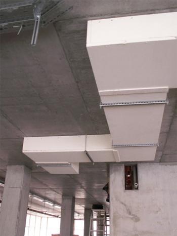 Conductos de extracción de humos con placas de silicato