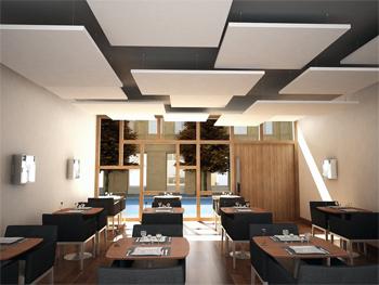Falsos techos para mejorar el acondicionamiento acústico de su local
