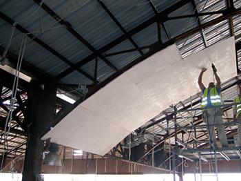 Falsos techos ignífugos con placas de magnesita